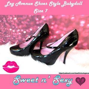 Leg Avenue Babydoll Mary Jane Heels Size 7